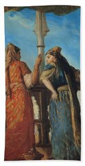 Jewish Women At The Balcony In Algiers Bath Towel