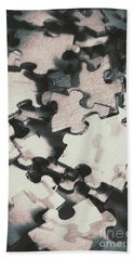 Jigsaws Of Double Exposure Bath Towel