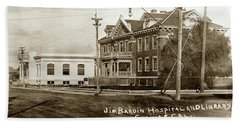 Jim Bardin Hospital The Hospital Was Located On The E Side Of Main Street  Circa 1910 Hand Towel