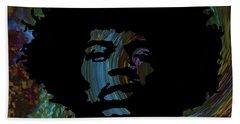 Acid Graphic Jimi Hendrix Hand Towel by Lesa Fine