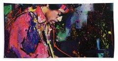 Jimi Hendrix II Bath Towel by Richard Day