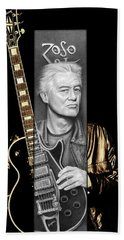 Jimmy Page Drawing Hand Towel