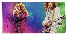 Jimmy Page - Robert Plant Hand Towel