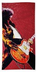 Jimmy Page  Bath Towel by Taylan Apukovska
