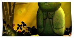 Jizo Bodhisattva Hand Towel by John Wills
