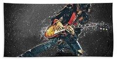 Joe Perry Hand Towel by Taylan Apukovska