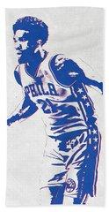 Joel Embiid Philadelphia Sixers Pixel Art Hand Towel