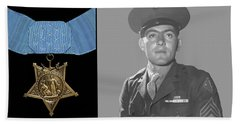 John Basilone And The Medal Of Honor Hand Towel