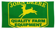 John Deere Farm Equipment Sign Bath Towel by Randy Steele