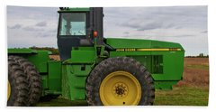 Bath Towel featuring the photograph John Deere Green 3159 by Guy Whiteley
