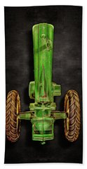 Bath Towel featuring the photograph John Deere Top On Black by YoPedro