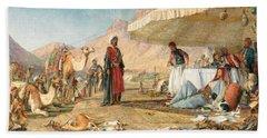 Hand Towel featuring the photograph John Frederick Lewis Mount Sinai 1842 by Munir Alawi