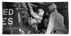 John Glenn Entering Friendship 7 Spacecraft Hand Towel