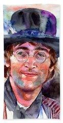 John Lennon Portrait Bath Towel