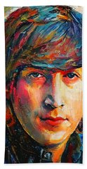 John Lennon Young Portrait Bath Towel