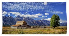 John Moulton Barn In The Tetons Hand Towel