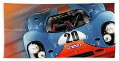 John Wyer's Gulf Porsche 917 Bath Towel