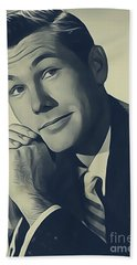 Johnny Carson, Vintage Entertainer Hand Towel