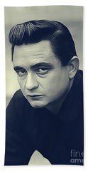 Johnny Cash, Music Legend Hand Towel