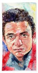 Johnny Cash Portrait Hand Towel