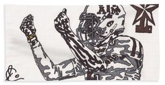 Johnny Manziel 10 Change The Play Bath Towel by Jeremiah Colley