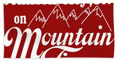 Bath Towel featuring the digital art Johnson City Tn On Mountain Time by Heather Applegate