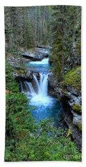 Johnston Canyon Falls Hike Lower Falls Bath Towel