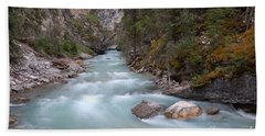 Johnston Canyon In Banff National Park Hand Towel by RicardMN Photography