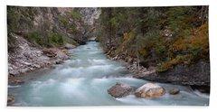 Johnston Canyon In Banff National Park Bath Towel by RicardMN Photography