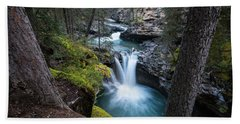 Johnston Canyon Waterfall Bath Towel