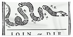 Join Or Die Hand Towel by War Is Hell Store