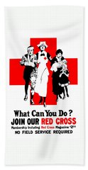 Join Our Red Cross Hand Towel
