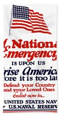Arise America Before It Is Too Late - Join The Navy Hand Towel