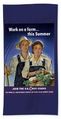 Join The U.s. Crop Corps Hand Towel