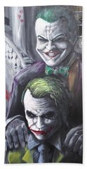Jokery In Wayne Manor Hand Towel by Tyler Haddox