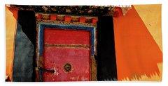 Jokhang Temple Door Lhasa  Tibet Artmif.lv Hand Towel