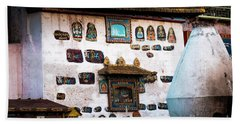 Jokhang Temple Wall Lhasa Tibet Artmif.lv Bath Towel