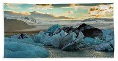 Jokulsarlon Ice Lagoon Landscape Of Ice  Bath Towel