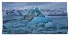 Jokulsarlon Iceland Hand Towel