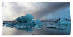Hand Towel featuring the photograph Jokulsarlon, The Glacier Lagoon, Iceland 4 by Dubi Roman