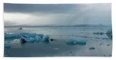 Hand Towel featuring the photograph Jokulsarlon, The Glacier Lagoon, Iceland 1 by Dubi Roman