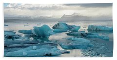 Hand Towel featuring the photograph Jokulsarlon, The Glacier Lagoon, Iceland 6 by Dubi Roman