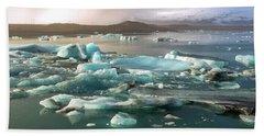 Jokulsarlon The Magnificent Glacier Lagoon, Iceland Bath Towel