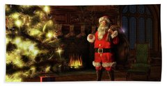 Bath Towel featuring the painting Jolly Old St. Nicholas by Dave Luebbert