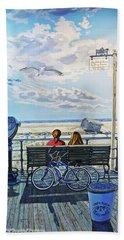 Jones Beach Boardwalk Bath Towel