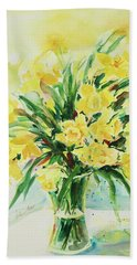 Jonquils Hand Towel by Alexandra Maria Ethlyn Cheshire