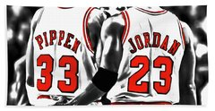 Jordan And Pippen 23c Hand Towel