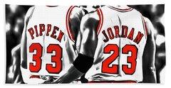 Jordan And Pippen 23c Bath Towel