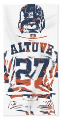 Jose Altuve Houston Astros Pixel Art 10 Bath Towel