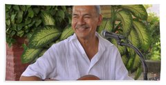 Bath Towel featuring the photograph Jose Luis Cobo by Jim Walls PhotoArtist